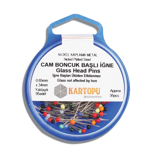 Glass Head Pins - K002.1.0020