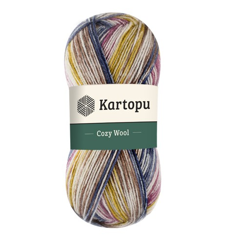Kartopu Cozy Wool Sport Prints - H1904